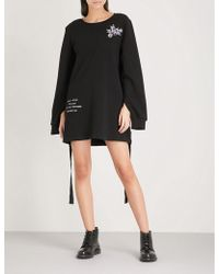 5cm - Embroidered Cotton-jersey Jumper Dress - Lyst
