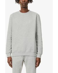 PREVU Mens Grey Logo-print Cotton-blend Sweatshirt L