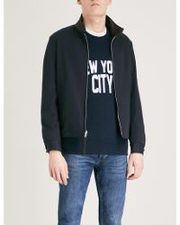 Sandro - Reversible Leather-trimmed Cotton-blend Jacket - Lyst