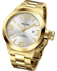 TW Steel Cb81 Canteen Pvd Yellow Gold-plated Stainless Steel Watch - Metallic