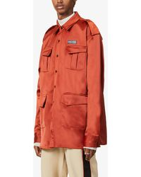 Daily Paper Branded Boxy-fit Stretch-woven Jacket - Orange