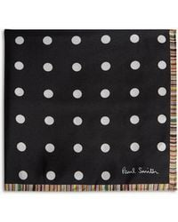 Paul Smith - Polka-dot And Stripe Silk Pocket Square - Lyst