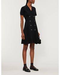 Sandro Syana Double-breasted Knitted Midi Dress - Black
