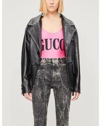 Gucci Logo-print Stretch-jersey Body - Black