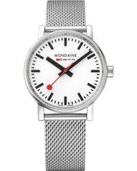 Mondaine - Mse-35110-sm Evo2 Stainless Steel Watch - Lyst