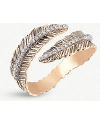 The Alkemistry - Kismet By Milka Feather 14ct Rose-gold And Diamond Ring - Lyst