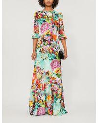 Mary Katrantzou Floral Print Maxi Dress - Multicolor