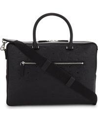MCM - Otto Medium Monogram Leather Briefcase - Lyst