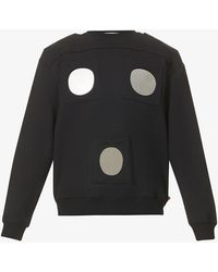 Walter Van Beirendonck Mirror-embellished Relaxed-fit Cotton-jersey Sweatshirt - Black