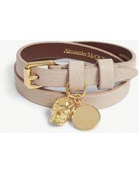 Alexander McQueen Skull Wrap Bracelet - Brown