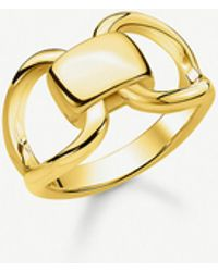 Thomas Sabo - Heritage 18ct Yellow-gold Plated Sterling Silver Buckle Ring - Lyst