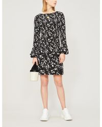 Maje - Rockiz Daisy Print Crepe Midi Dress - Lyst
