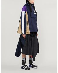 Nike Asymmetrical Contrast-panel Shell Jacket - Blue