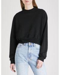 Cotton Citizen - Milan Cropped Cotton-jersey Sweatshirt - Lyst