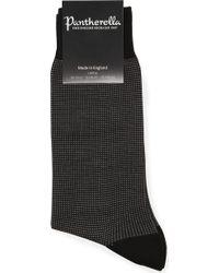 Pantherella - Men's Black Birdseye Socks - Lyst