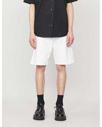 Raf Simons Logo-patch Denim Shorts - White