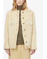 Chloé Collared Shearling Jacket - Natural