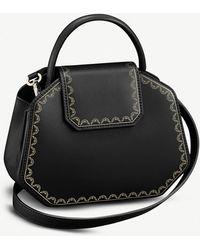 Cartier Guirlande De Mini Leather Handbag - Black