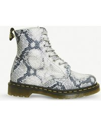 Dr. Martens - 1460 Pascal 8-eye Snake-embossed Leather Boots - Lyst