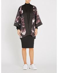 PUMA X Kenza Silk-satin Kimono - Black