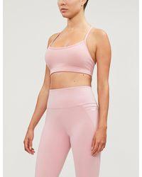 Lorna Jane Sammy Racerback Stretch-jersey Sports Bra - Pink