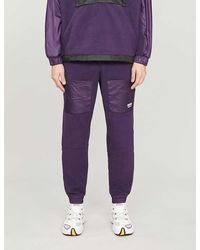 adidas Vocal Fleece And Shell jogging Bottoms - Purple
