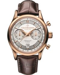 Carl F. Bucherer - 00.10919.03.13.01 Manero Flyback 18ct Rose Gold And Alligator Leather Watch - Lyst