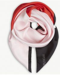 Sportmax - Colour-block Silk Scarf - Lyst