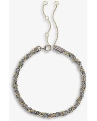 The Alkemistry Kumachi 18ct Yellow-gold And Silk Cord Bracelet - Grey