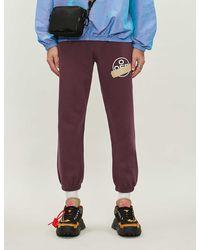 Off-White c/o Virgil Abloh Graphic-print Cotton-jersey jogging Bottoms - Purple
