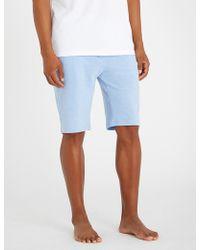 Polo Ralph Lauren - Striped Oxford-cotton Pyjama Shorts - Lyst