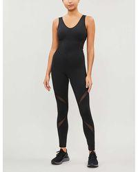 Michi Siren Mesh-insert Jumpsuit - Black