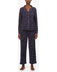 DKNY Star-patterned Stretch-jersey Pyjama Set - Blue