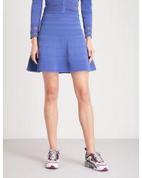 Sandro | A-line Pointelle-knit Mini Skirt | Lyst