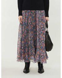 Zadig & Voltaire Joyo Paisley-print Maxi Skirt - Black