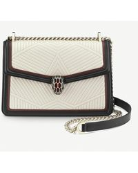 BVLGARI Serpenti Forever Quilted-leather Shoulder Bag - White
