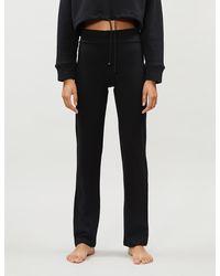 The White Company Roll Waist Yoga Trousers - Black