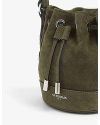 The Kooples Nano Tina Suede Bucket Bag - Green