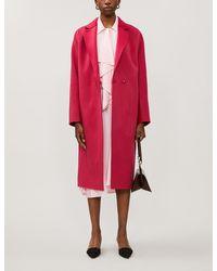Diane von Furstenberg Perilla Notch-lapel Wool Coat - Red