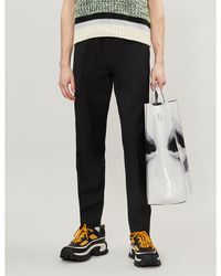 Acne Studios Ryder Slim-fit Tapered Cotton-crepe Trousers - Black