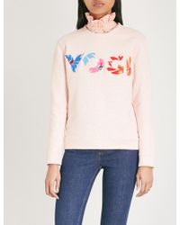 Claudie Pierlot - Yogi Cotton-blend Sweatshirt - Lyst