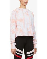 Lorna Jane - Dreamy Tie Dye-print Cotton-jersey Hoody - Lyst