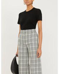 Theory Basic Short-sleeved Cashmere Jumper - Black