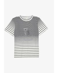 Ted Baker Tullip Striped Cotton-jersey T-shirt - Blue