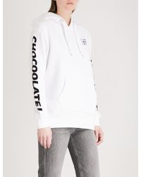 Chocoolate - Printed Cotton-jersey Hoody - Lyst