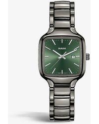 Rado R27077312 True Square Automatic High-tech Ceramic Watch - Grey