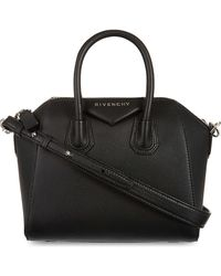 Givenchy Antigona Mini Leather Tote Bag - Black