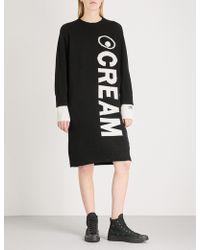 Mini Cream | Round Neck Wool-blend Dress | Lyst