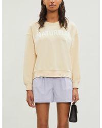 Claudie Pierlot Slogan-print Jersey Sweatshirt - Multicolour