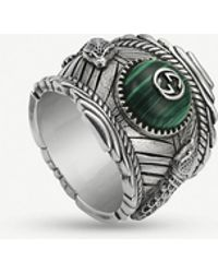 Gucci Garden Sterling Silver And Resin Ring - Metallic